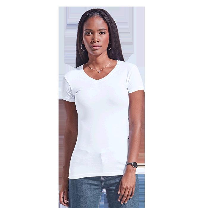 Ladies 170g Slim Fit V-Neck T-Shirt