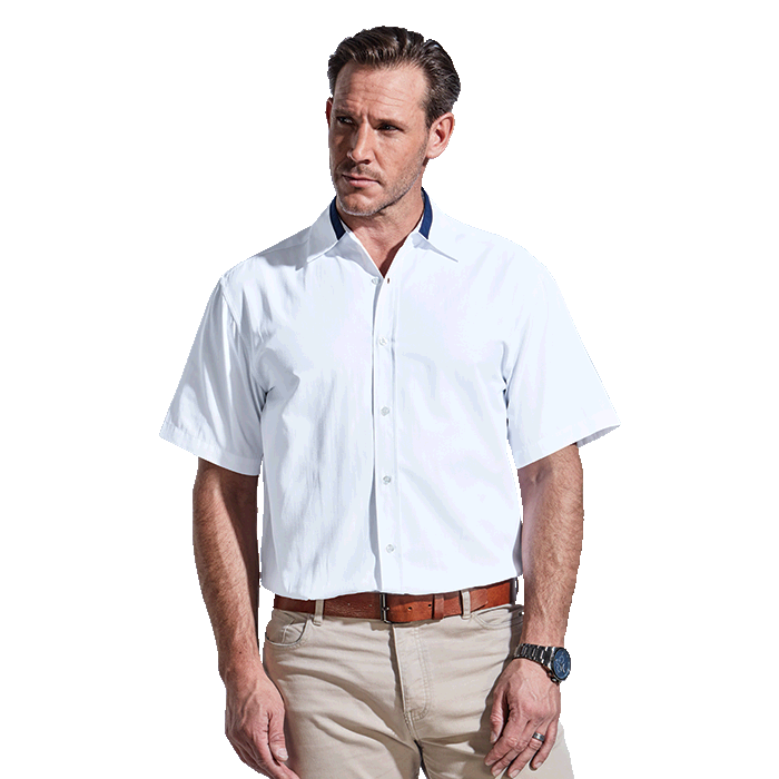 Mens Dallas Lounge Shirt Short Sleeve