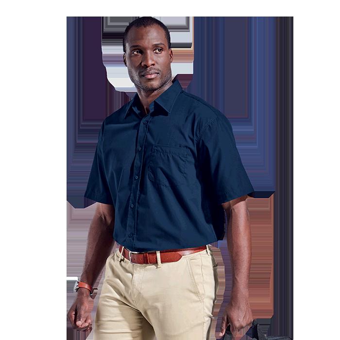 Mens Basic Poly Cotton Lounge Short Sleeve